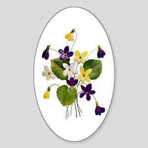 VIOLETS Sticker (Oval)
