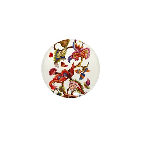Jacobean Embroidery Mini Button (100 pack)