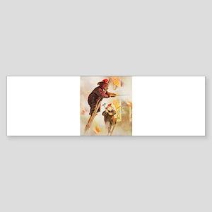 ROOSEVELT BEAR FIREFIGHTER HE Sticker (Bumper)