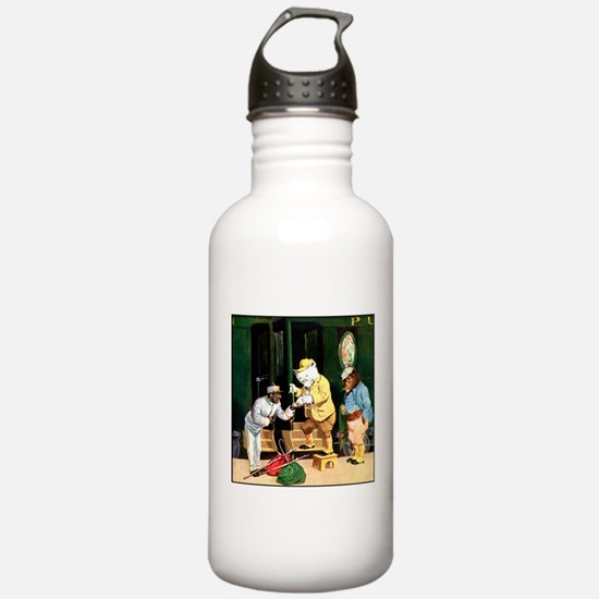 ROOSEVELT BEARS ON A TRAIN Water Bottle