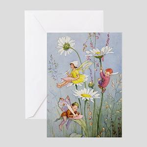 MOON DAISY FAIRIES Greeting Card
