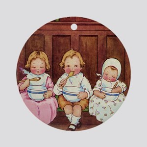 PEASE PORRIDGE HOT Ornament (Round)
