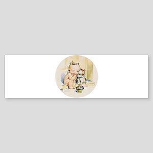 KEWPIE & DOODLE DOG Sticker (Bumper)
