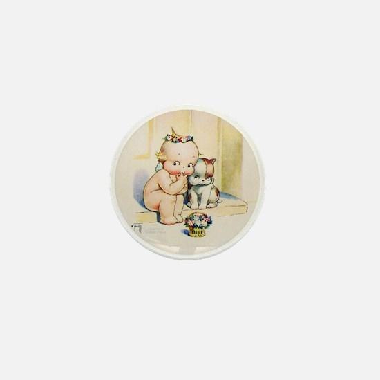KEWPIE & DOODLE DOG Mini Button