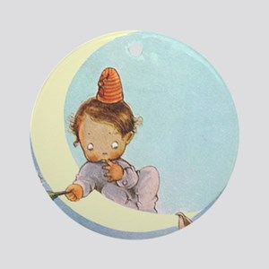 BOY IN THE MOON Ornament (Round)