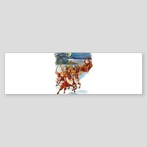 SANTA & HIS REINDEER Sticker (Bumper)
