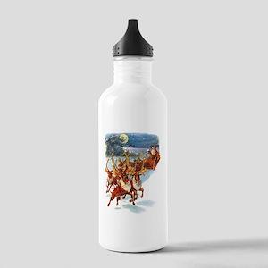 SANTA & HIS REINDEER Stainless Water Bottle 1.0L