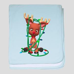 Rudolf - Oh, Deer! baby blanket