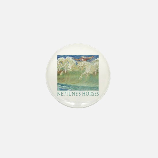 NEPTUNE'S HORSES Mini Button