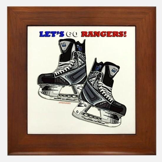 Cute Hockey rules Framed Tile
