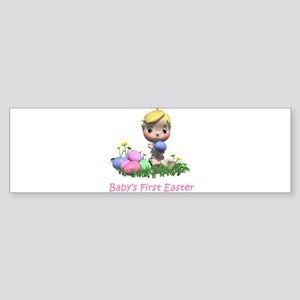 BABY'S FIRST EASTER Sticker (Bumper)