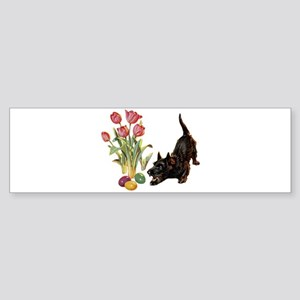 EASTER SCOTTIE Sticker (Bumper)