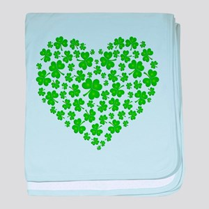 MY IRISH SHAMROCK HEART baby blanket