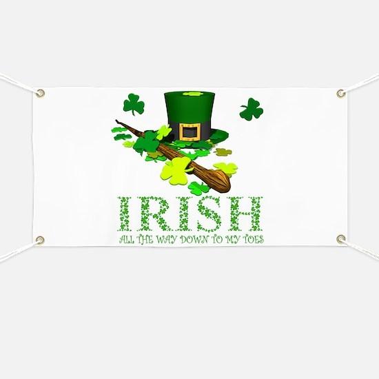 IRISH DOWN TO MY TOES Banner