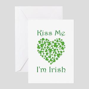 KISS ME I'M IRISH Greeting Card
