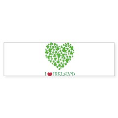 I LOVE IRELAND Sticker (Bumper)