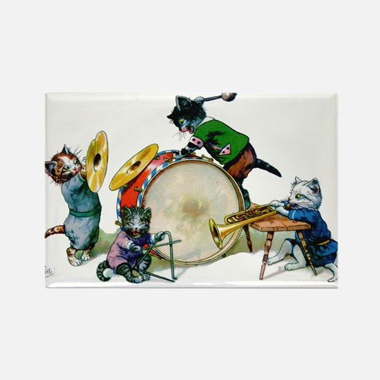 Cool Cats In The Band Rectangle Magnet (100 pack)