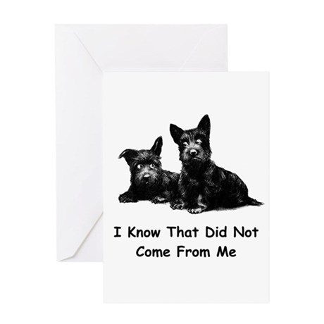 THAT DID NOT COME FROM ME Greeting Card