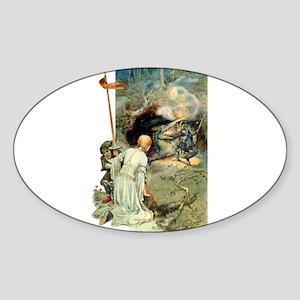 DRAGON SLAYER Sticker (Oval)