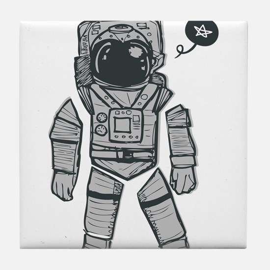 Cute Astronaut Tile Coaster