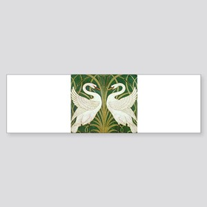 SWANS GREEN Sticker (Bumper)