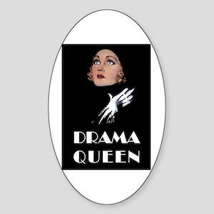 DRAMA QUEEN Sticker (Oval)