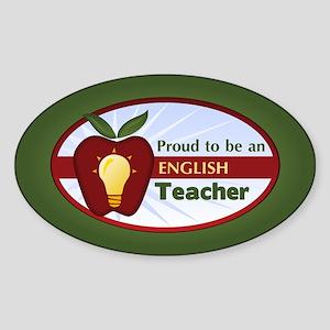 English Teacher Sticker (Oval)