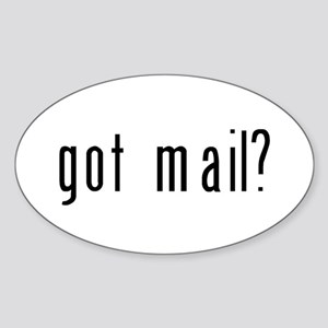 got mail? Sticker (Oval)