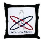 Atheist American Throw Pillow