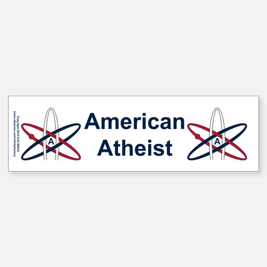 Atheist American Sticker (Bumper)