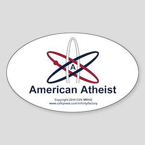 Atheist American Sticker (Oval)