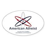 Atheist American Sticker (Oval 10 pk)