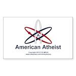 Atheist American Sticker (Rectangle 50 pk)