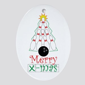 X-mas Bowler Ornament (Oval)