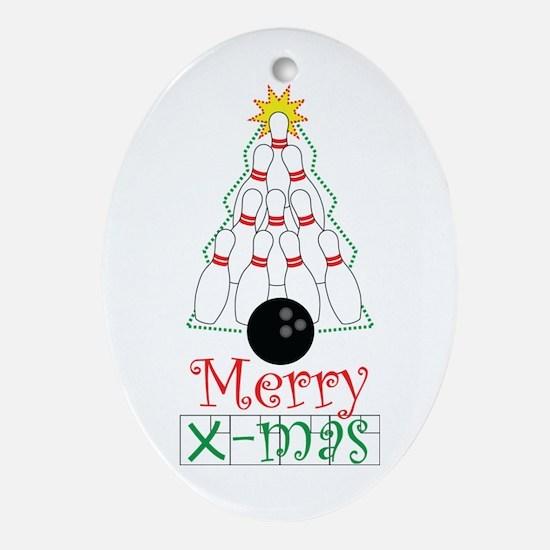 X-mas Bowler Ornament (Oval)
