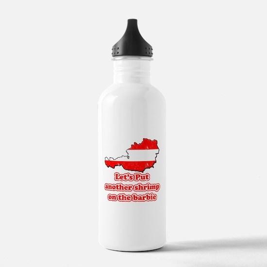 Austria - Shrimp on the barbi Water Bottle