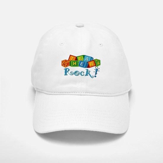 Teachers Rock! Baseball Baseball Cap