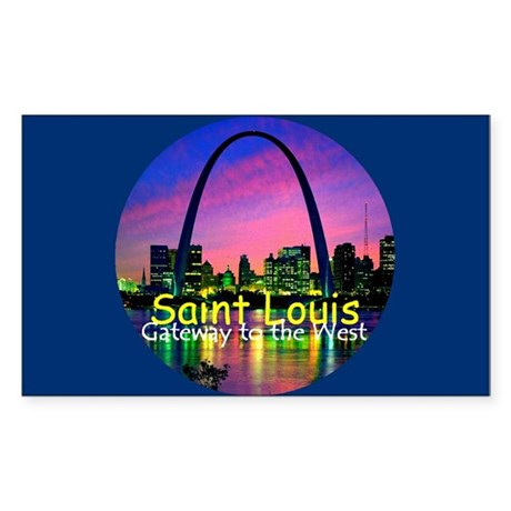 St. Louis Sticker (Rectangle)