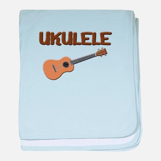 Uke Ukulele baby blanket