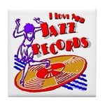 Jazz Records Tile Coaster