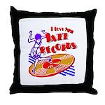 Jazz Records Throw Pillow