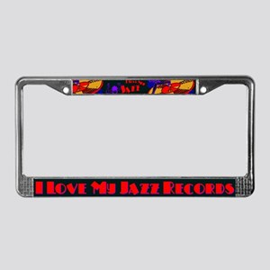 Jazz Records License Plate Frame