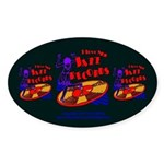 Jazz Records Sticker (Oval)