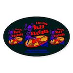 Jazz Records Sticker (Oval 10 pk)