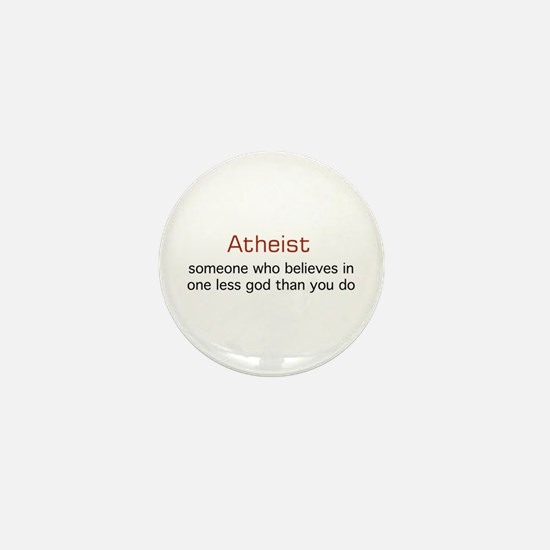 One less God Mini Button