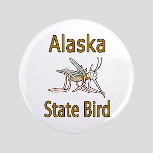 """Alaska State Bird 3.5"""" Button"""