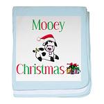 Mooey Christmas baby blanket