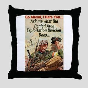 Denied Area Throw Pillow