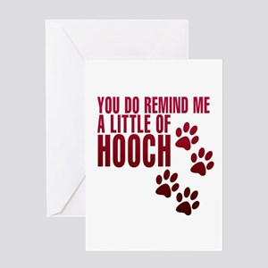 hooch Greeting Cards