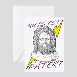 Quis est Pater? (Who's Your D Greeting Card
